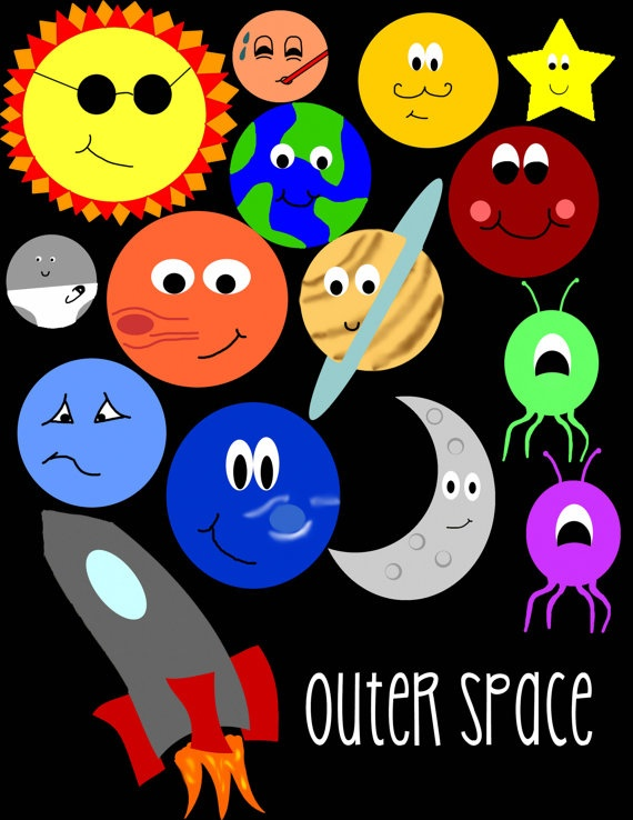 outer space clip art clipart