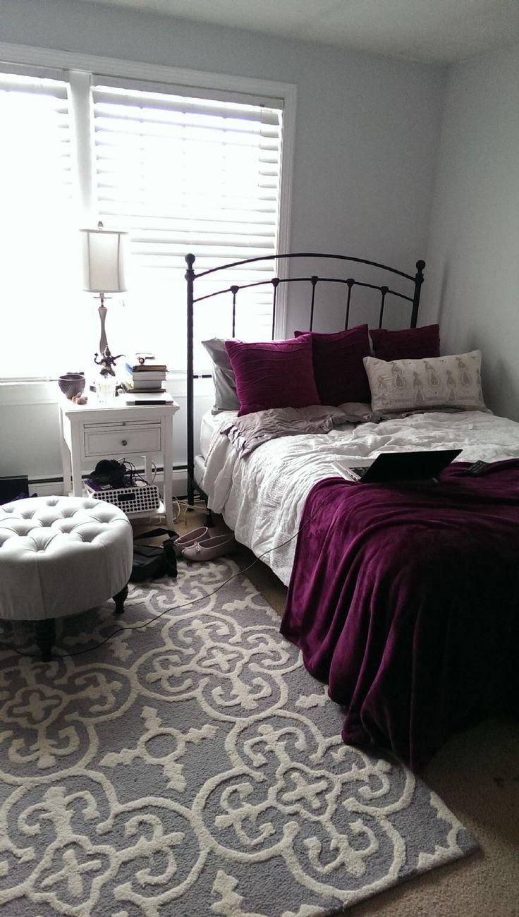 Girl Purple Dorm Room Ideas Novocom Top