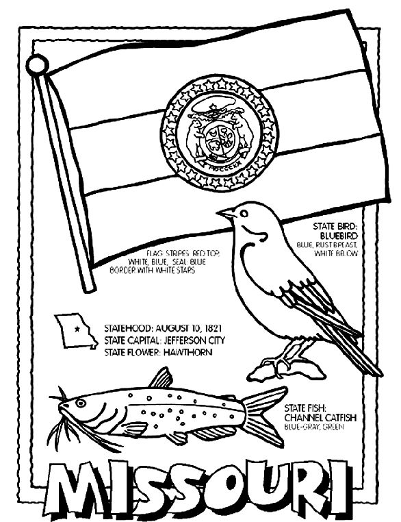 Missouri Coloring Page from Crayola. You can print this