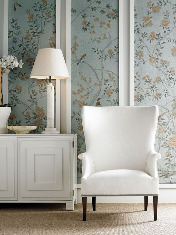 25+ best ideas about Framed Wallpaper on Pinterest