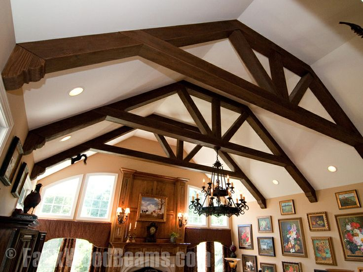 Faux wood beams  Family Room Ceiling and Arch Wall Separator for Kitchen  Pinterest  Faux