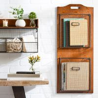 25+ best ideas about Wall mounted wire baskets on ...