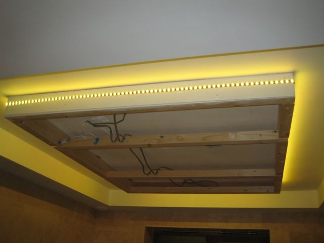 Led Strip Light Around Suspended Ceiling Home