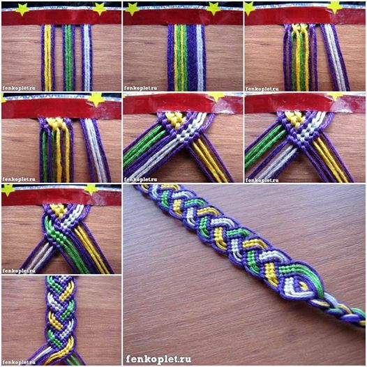 How to DIY Friendship Bracelet in Leaf Pattern tutorial and instruction. Follow us: www.facebook.com/…