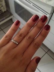 essie bordeaux nail polish