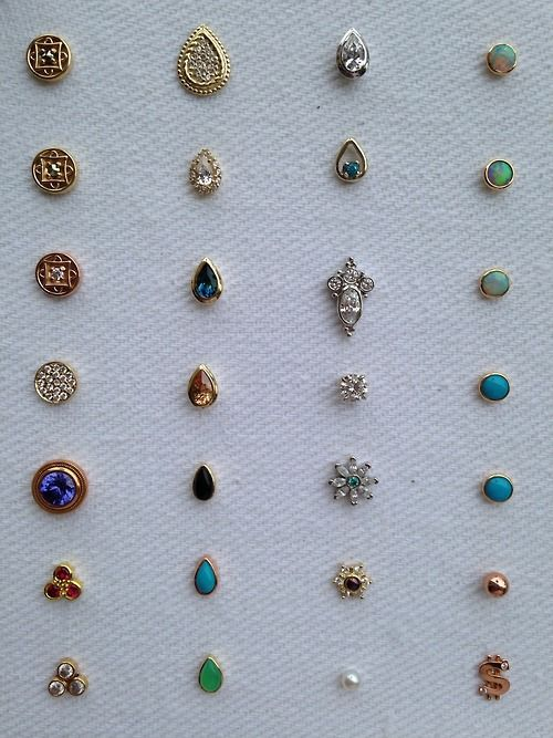 Beautiful BVLA studs (Mine is the opal in rose gold (top right)