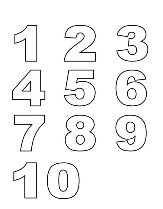 Disegno: Numeri. Disegni da colorare e stampare gratis per