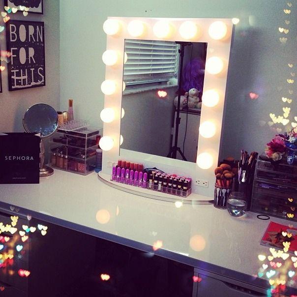 Broadway lighted table top vanity mirror from Vanity Girl