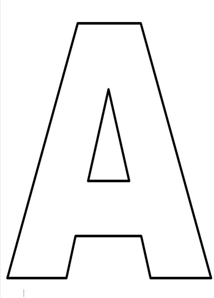 25+ melhores ideias de Letras grandes para imprimir no