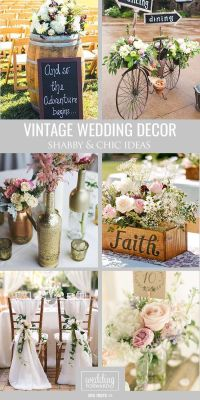 25+ best ideas about Vintage weddings decorations on