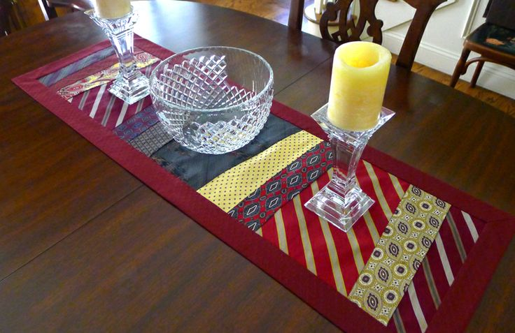 Table Runner: Recycle, reuse, & upcycle old neckties