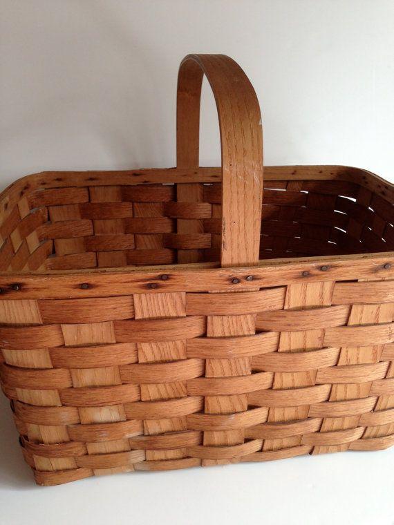 Vintage Putney Vermont Basketville Gathering Basket