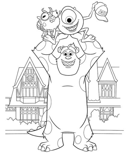 Monsters University Coloring Pages // Páginas para
