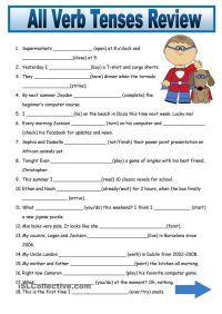 Mixed Verb Tenses Exercises Pdf Bachillerato - english ...