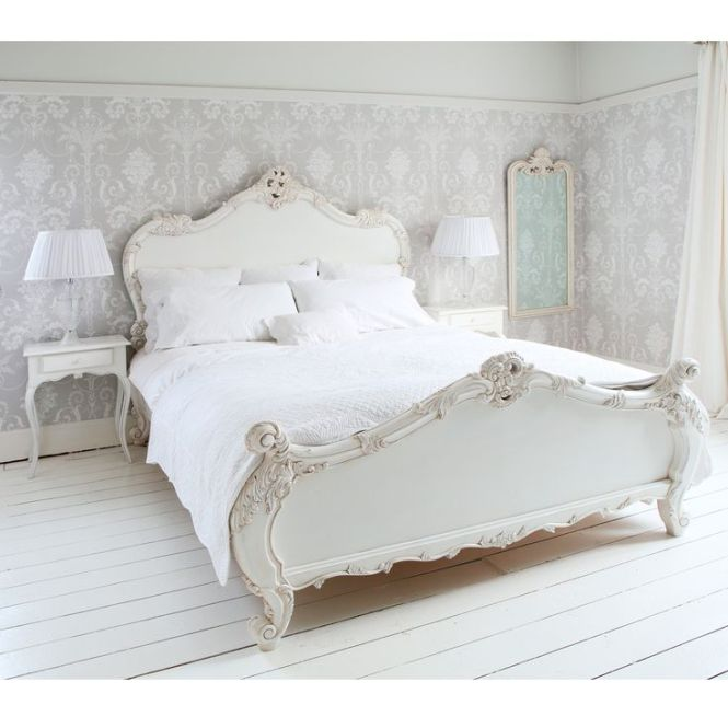 Provencal Sy White French Bed Double