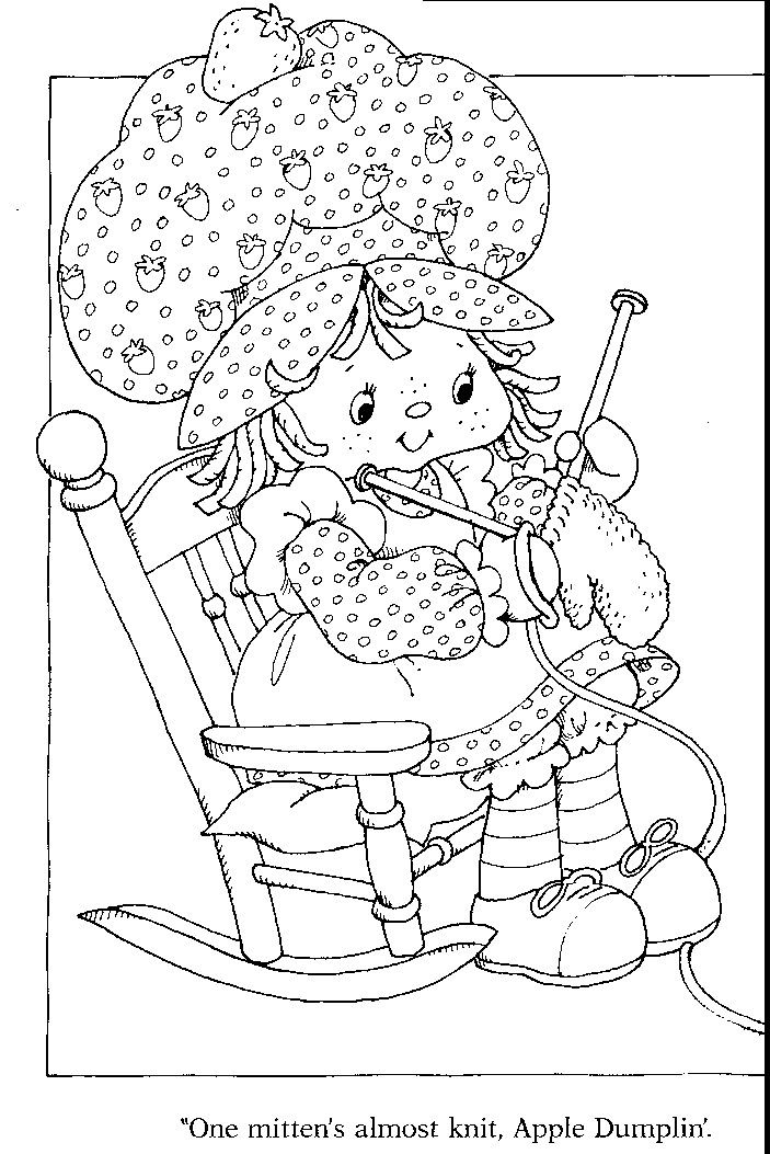 141 best images about Strawberry Shortcake coloring pages