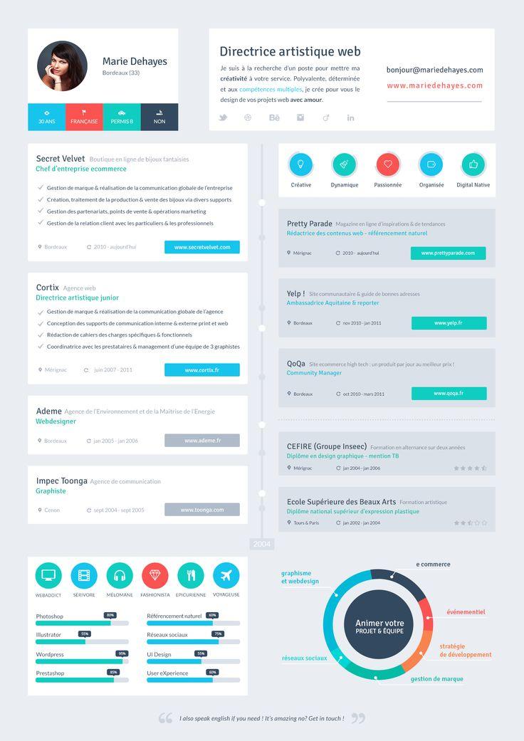 Resume Flat UI DESIGN CV Designs Pinterest Flats