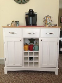 White buffet table coffee station | Coffee | Pinterest ...