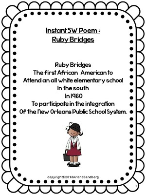 Black history month, Poem and Famous african americans on