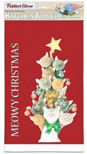 Dish Towels Christmas Cats And Pique On Pinterest