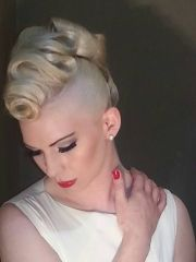 avant garde mohawk wedding hair