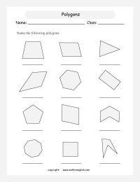 Names of Polygons | Name regular and irregular polygons ...