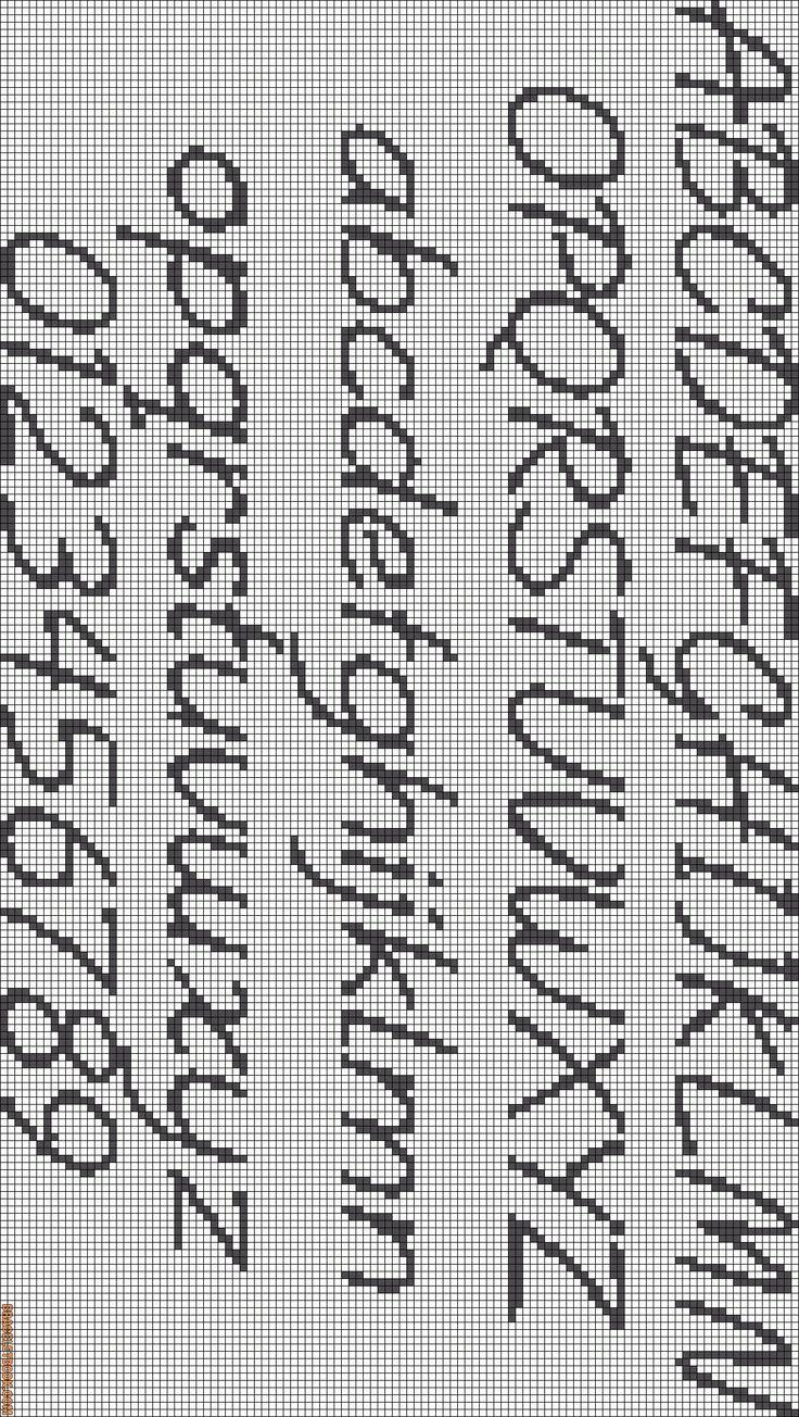 17 Best images about Cross Stitch Fonts on Pinterest