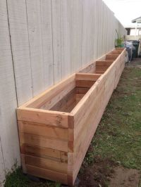25+ best Narrow Backyard Ideas on Pinterest | Diy planter ...