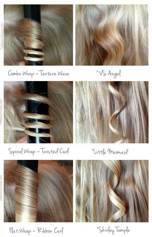 Different Types Of Hair Curls With A Wand Curler Hair