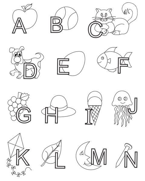 55 best images about ABC Coloring Pages on Pinterest