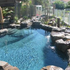 Outside Kitchen Designs Redesigning A Lagoon Pool | Small Pools Photo From The ...