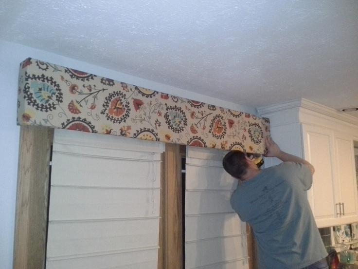 kitchen window treatments above sink base cabinets diy with the joneses: fabric cornice board over french ...