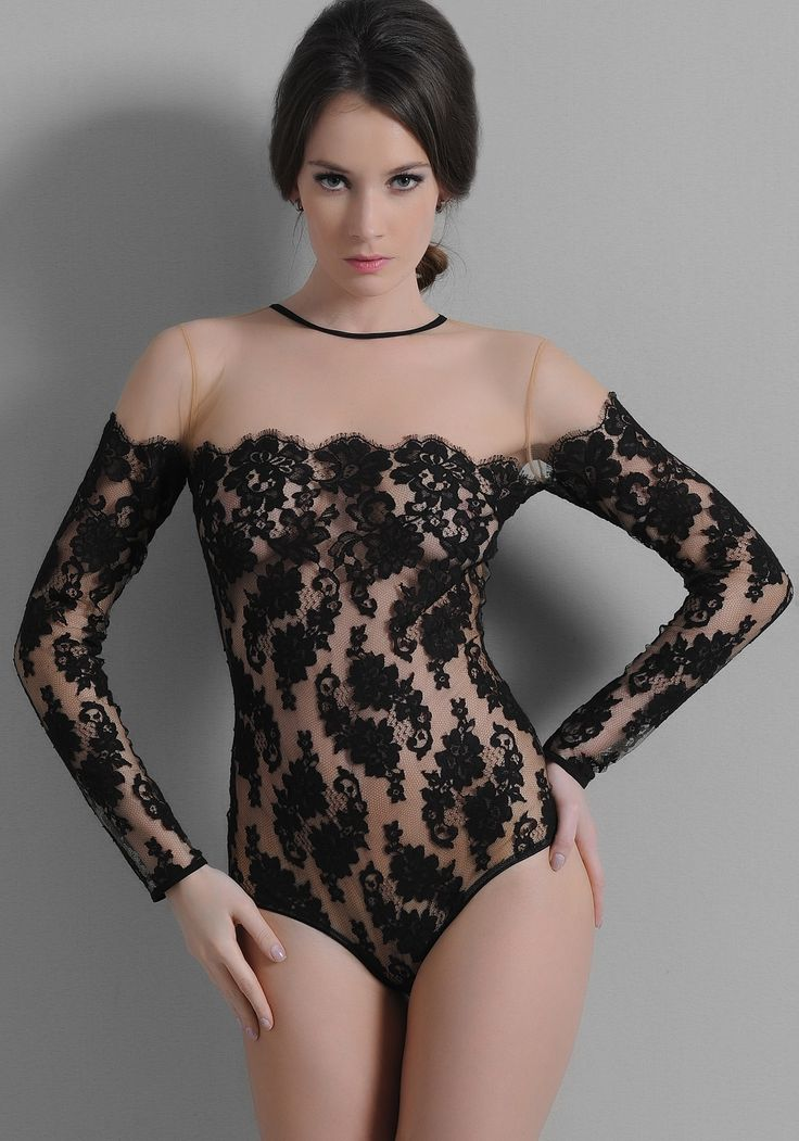 black lace bodysuit  Bodysuits  Pinterest  Lace bodysuit Black lace bodysuit and Black laces