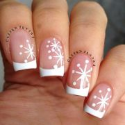 ideas snowflake nails