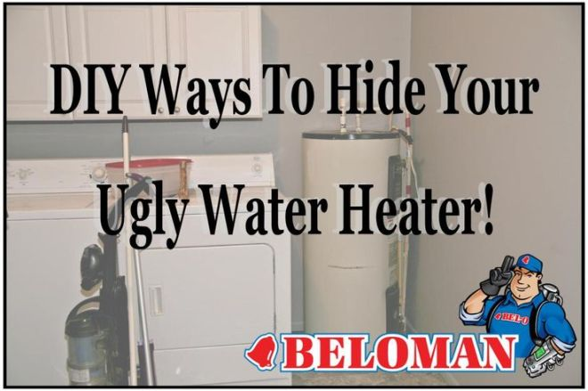Diy ways to hide your ugly water heater diy and crafts