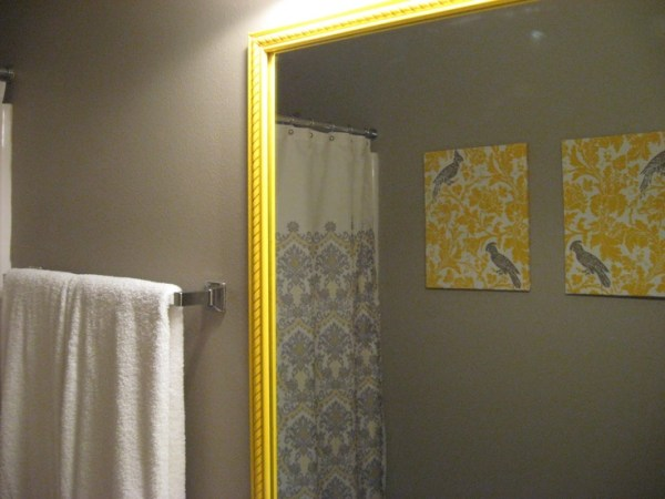yellow and grey bathroom mirror 1000+ images about Ideas for the House on Pinterest | Afghan crochet, Yellow shower curtains and