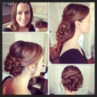 Before and after bridal hairstyle with extensions added ...
