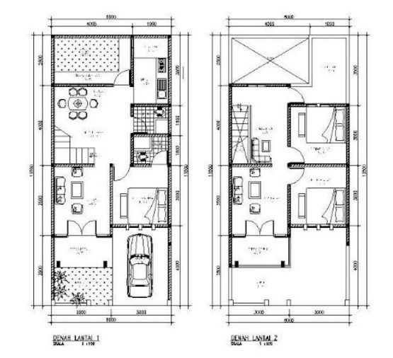 denah rumah minimalis 2 lantai type 120  Ideas for the