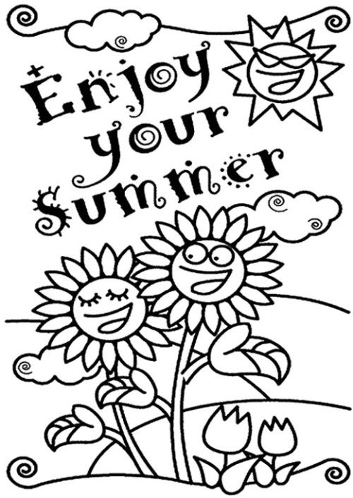Coloring, Coloring pages and Summer on Pinterest