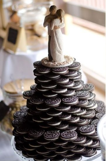 Oreos is a great wedding cookie favor to share See more