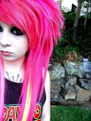 bright colored hair pink