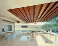 14 gypsum false ceiling design with wooden decorations for ...