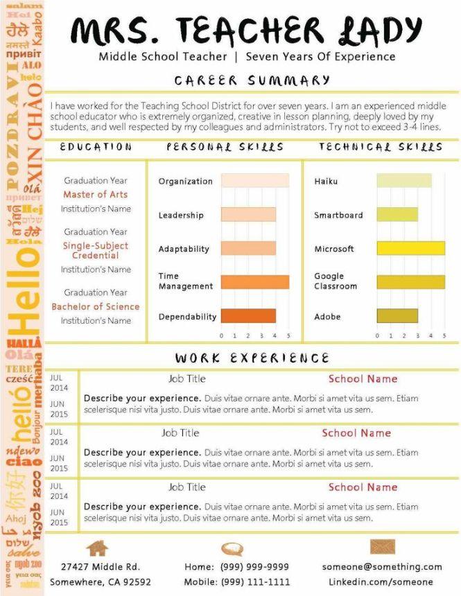 Resume templates for teaching jobs resume sample year teacher resume teachers curriculum vitae template samples for altavistaventures Choice Image