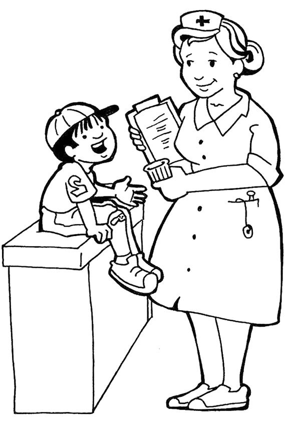 Learning Community Helpers Pages Coloring Pages