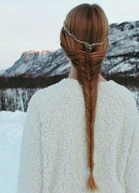 Fairytale Princess Braided Hairstyle Viking Celtic