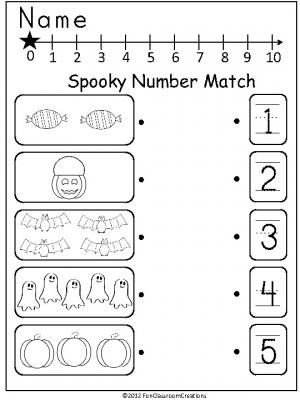 Halloween Number Match freebie that can be used anytime in
