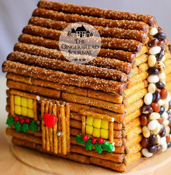 Log Cabin Gingerbread House Made From A Pre Baked Kit! Great