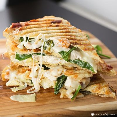 If you like Artichoke Spinach Dip, you are going to love this Spinach & Artichoke Panini with grilled chicken, marinated artichoke