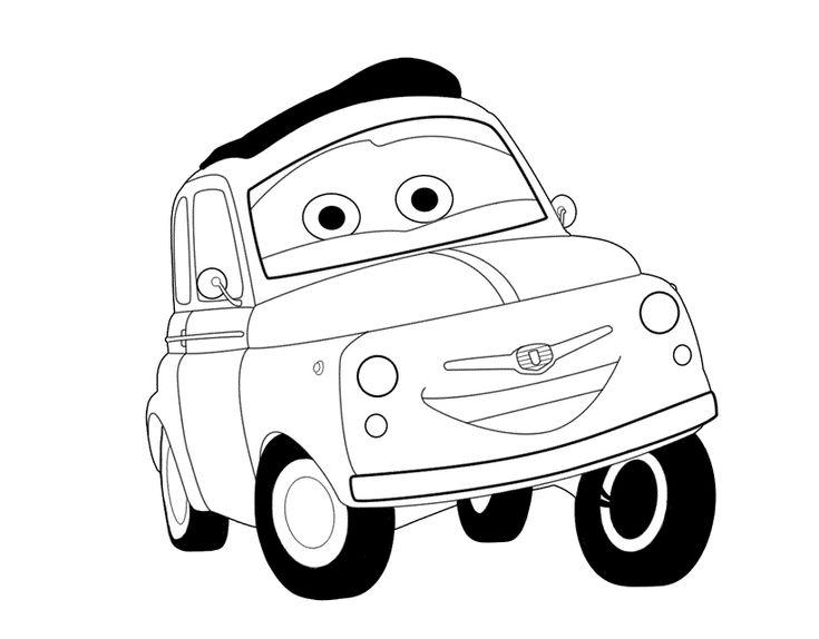 Cars Motori Ruggenti disegno da colorare
