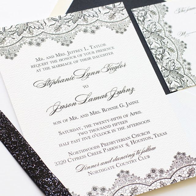 1000+ ideas about Black Tie Invitation on Pinterest